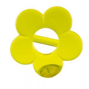 35mm Blume mit Steg in gelb