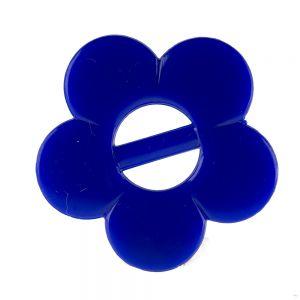 35mm Blume mit Steg in enzianblau