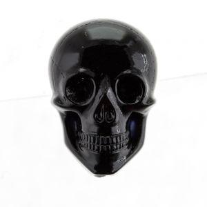 20x14 totenkopf cabochon in schwarz