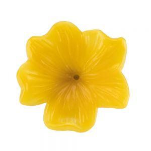 25mm Blüte  in maisgelb