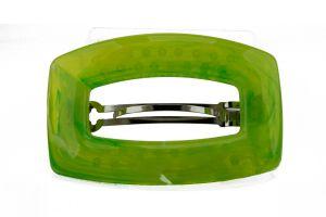 92x58 Rechteckige Patentspange in neon gelbgrün