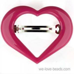 9x7cm Herz Patentspange offen in pink