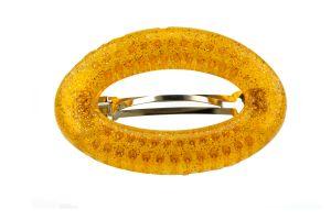 9,5x6cm Patentspange oval offen in orange