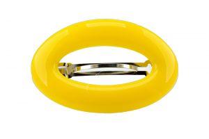 9,5x6cm Patentspange oval offen in bananengelb