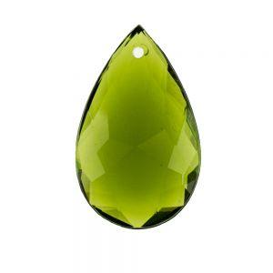 29x18 Facettierter Tropfen Anhänger in olivegrün