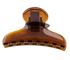 8x4cm Haarklammer klassisch in havanna