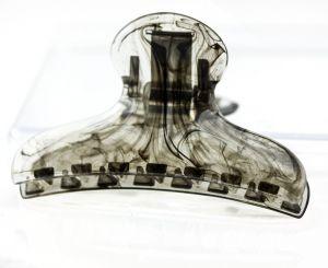 8x4cm Haarklammer klassisch in rauchgrau
