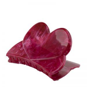84x45 Haarklammer Herz in rot