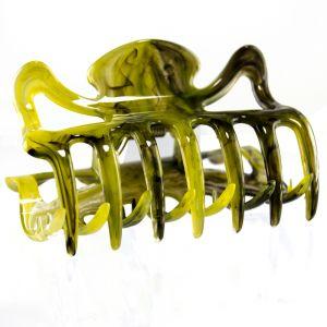 6cm Haarkralle in olivegold