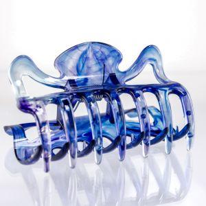 9cm Haarkralle groß in nachtblau