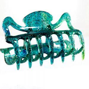 9cm Haarkralle groß in ozean grünblau
