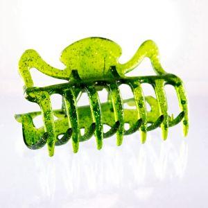9cm Haarkralle groß in neon grün