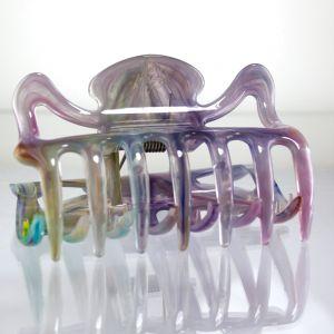 9cm Haarkralle groß in multicolor lila