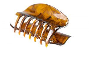 10cm Haarkralle groß mit geschlossenen seiten in havanna