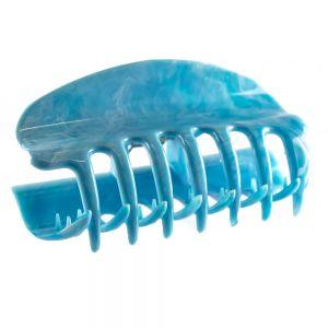 10cm Haarkralle groß mit geschlossenen seiten in hellblau