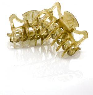 6cm Haarkralle in pudergold