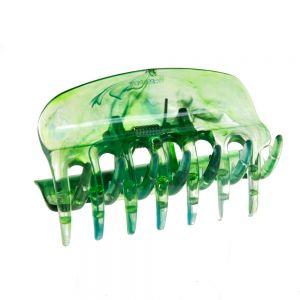 6cm Haarkralle in grün transparent