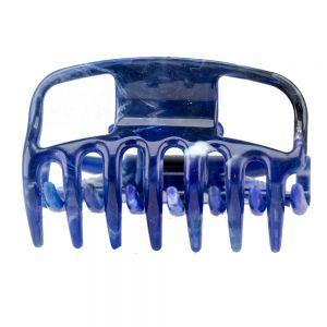 6cm Haarkralle in lapisblau
