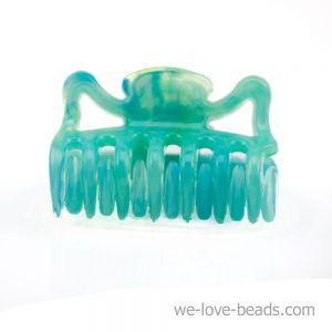 3,5cm Haarkralle mini in grünblau
