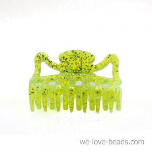 3,5cm Haarkralle mini in neon gelb