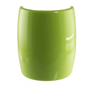 6,2x7,2cm Zopfhalter klassisch glatt groß in apfelgrün