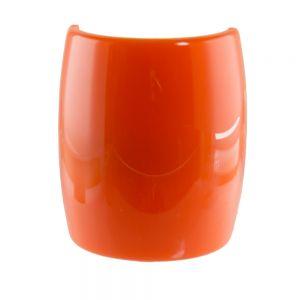 6,2x7,2cm Zopfhalter klassisch glatt groß in orange