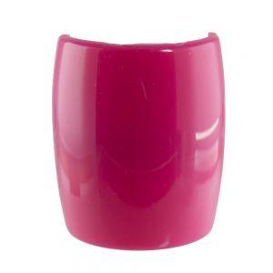 6,2x7,2cm Zopfhalter klassisch glatt groß in pink