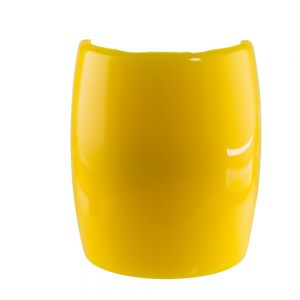 6,2x7,2cm Zopfhalter klassisch glatt groß in bananengelb