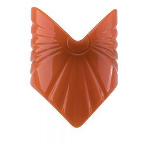 56x80 Großer Zopfhalter dreieck in orange