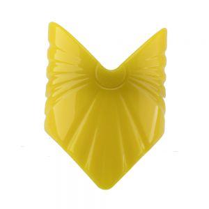 56x80 Großer Zopfhalter dreieck in bananengelb