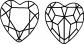 15x14 Herz körperstein in bermuda türkis